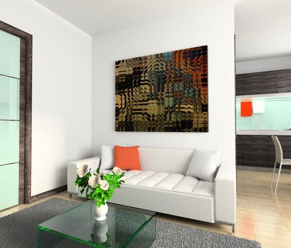 120x80cm Wandbild Hintergrund Geometrie abstrakt braun grün rot schwarz
