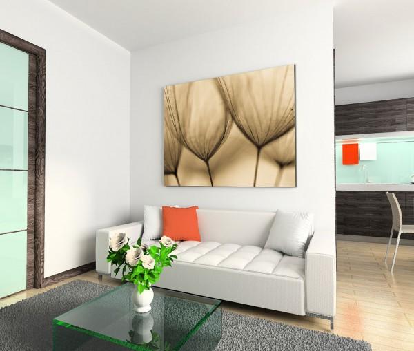 120x80cm Wandbild Pusteblumen Nahaufnahme abstrakt