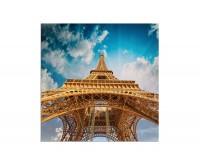 80x80cm Eiffelturm Frankreich Paris Himmel