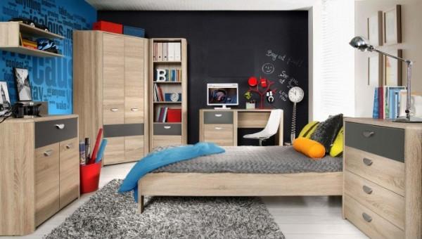 Jugendzimmer Yoop in Eiche Sonoma und Grau Anthrazit 7 teilig +++ von möbel-direkt+++ schnell und günstig