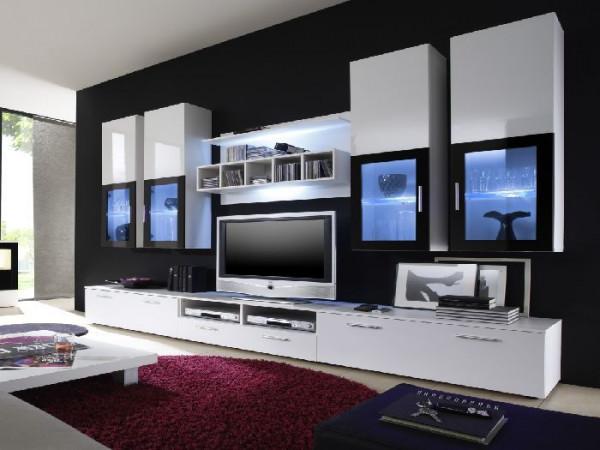 wohnwand lyra white m bel. Black Bedroom Furniture Sets. Home Design Ideas