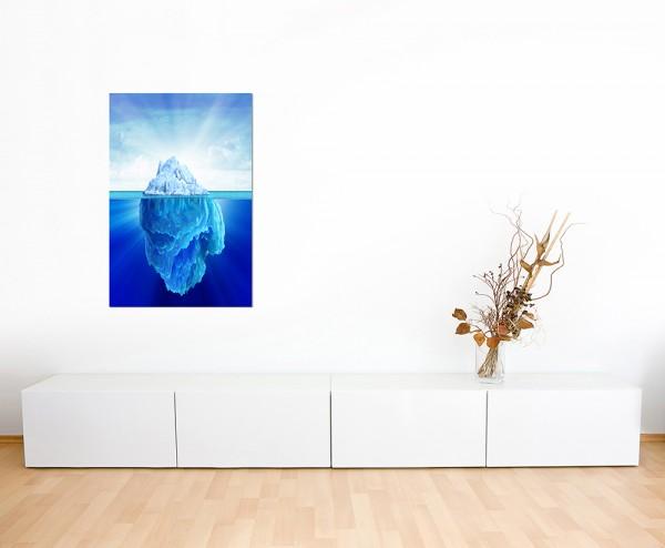 120x60cm Meer Eisberg Unterwasser