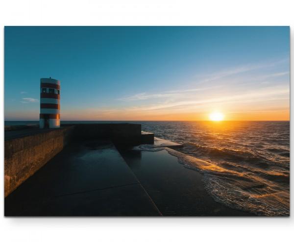 Pier mit Leuchtturm - Leinwandbild