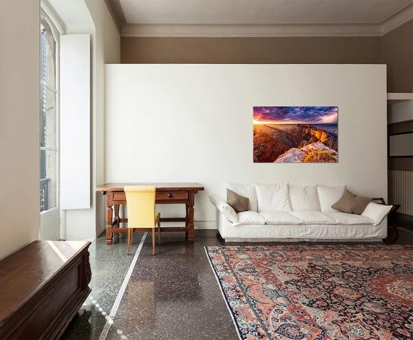 120x80cm Grand Canyon Berge Abendrot Wolken