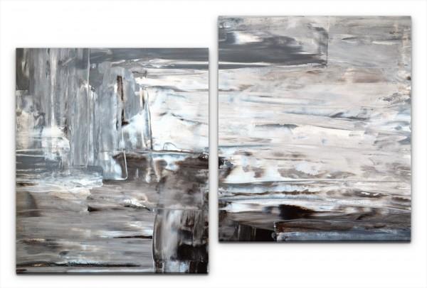 Abstrakt auf Papier Wandbild in verschiedenen Größen