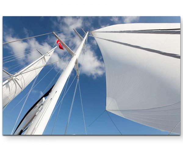 Segelboot – Mast - Leinwandbild