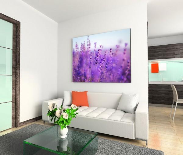 120x80cm Wandbild Provence Lavendelfeld Sommer