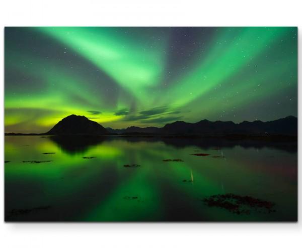 Nordlichter – Grüntöne - Leinwandbild