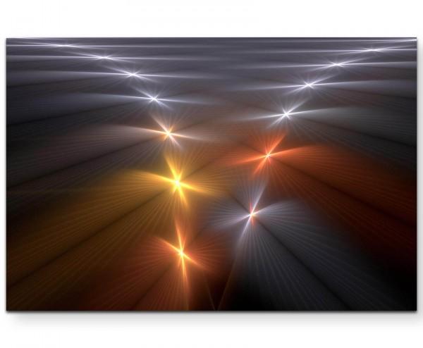Abstraktion – Fischgrätenmuster leuchtend - Leinwandbild
