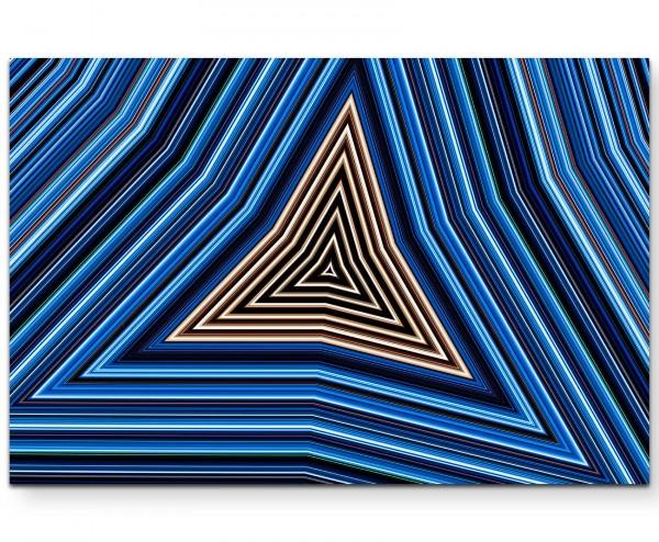 Abstraktes Design - blau, braun, weiß - Leinwandbild